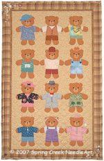 Friendship Bears Quilt Pattern