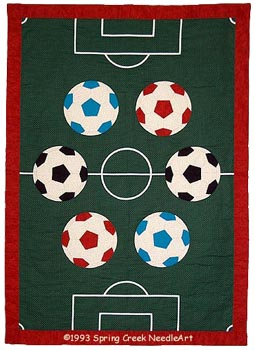 Soccer Quilt Spring Creek Needleart