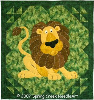 Ludwig Lion Quilt Pattern