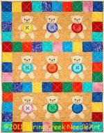 Button Bears Quilt Pattern