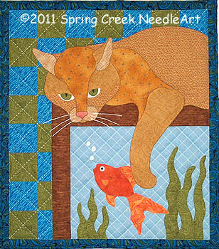 Aquarium Kitty Quilt Pattern