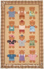 Friendship Bears Quilt Pattern
