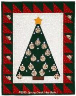 Yo-Yo Advent Tree Quilt Pattern