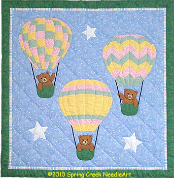 Balloon Bears Quilt Pattern