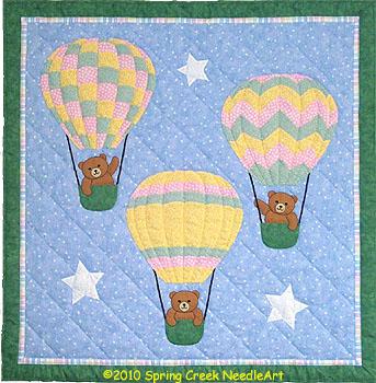 Balloon Bears Quilt Pattern
