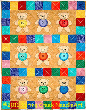 Button Bears Quilt Pattern