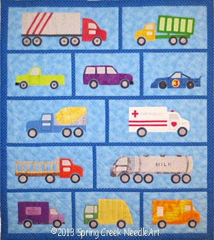 Just Trucks Quilt pattern